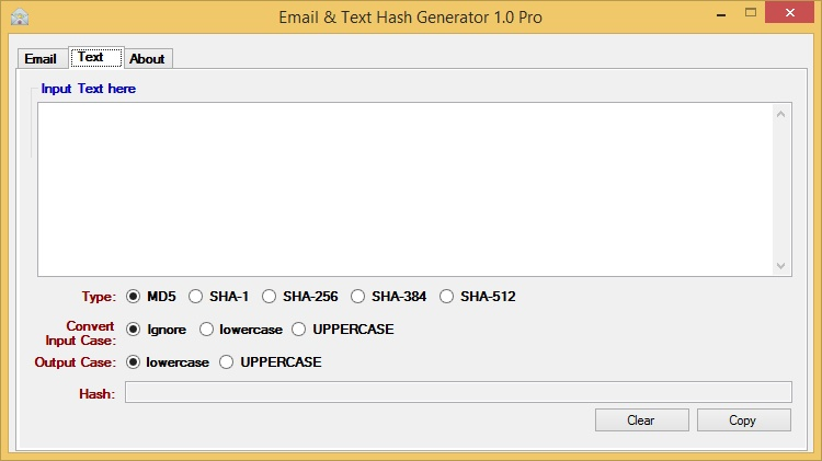 Email & Text Hash Generator   Raymond's WordPress
